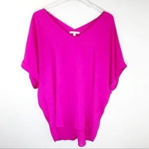 Gibson Latimer Dolman Tunic Blouse Shirt Purple M